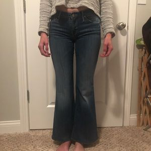 Mother crop flare jeans!